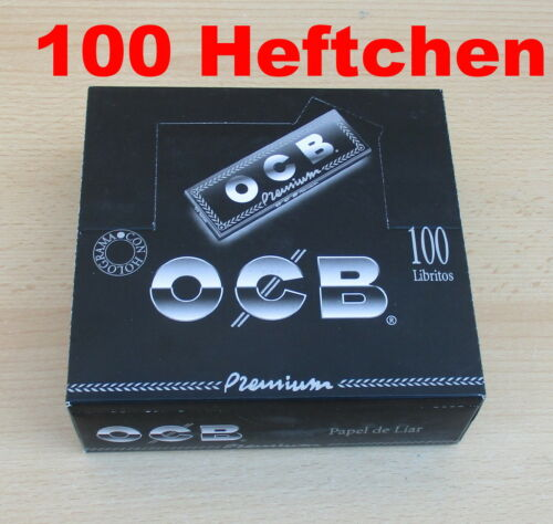 100 Heftchen OCB Premium Zigarettenpapier kurz Papel de Liar Premium
