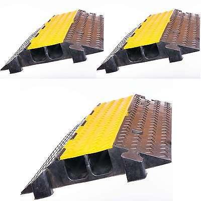 Sonstige Baugewerbe Initiative 3x 2 Kanal Feuerwehr Überfahrschutz Kabelbrücke Kabelkanal Cable Board Protector Letzter Stil