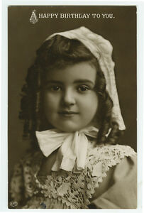 c-1909-Child-Children-PRETTY-BIRTHDAY-GIRL-British-photo-postcard