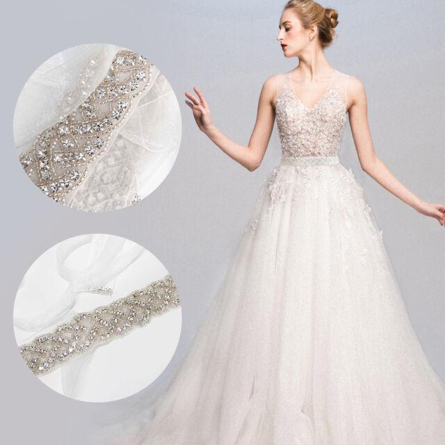 Amixi Bridal Belt Crystal For Wedding Dress Sash Beaded Waistband Wed2b For Sale Online Ebay