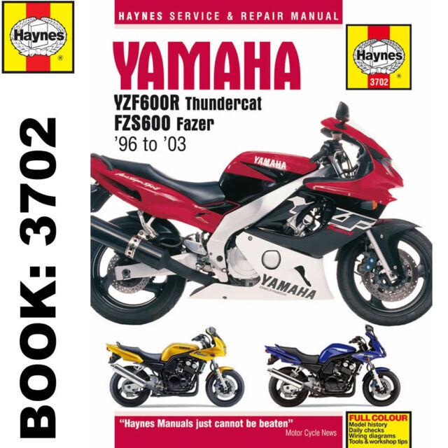 haynes 3702 motorcycle service repair manual yamaha fzs600 fazer rh ebay co uk Yamaha YZ Yamaha RD