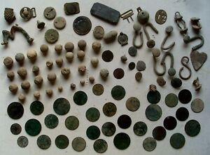 XIXeme-S-Napoleon-Gros-LOT-de-guerre-30-balles-mousquet-boutons-33-Monnaies