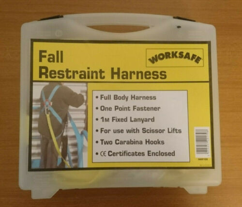 ce certificats Worksafe Chute De Retenue Harnais 1 m CORDON MA11-2 jaune