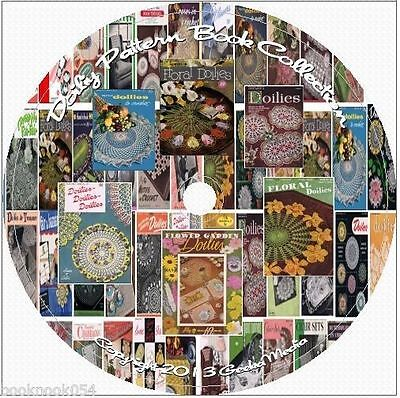 60+ Vintage Doily Pattern Books 100s of Designs chair sets runners & more CD DVD
