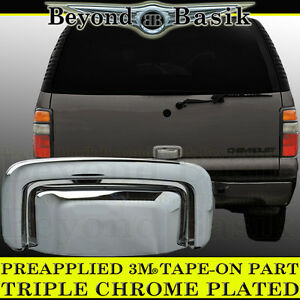 4 Door Handle For 2000-2006 Tahoe Suburban Chrome Cover Mirror Trunk Tailgate