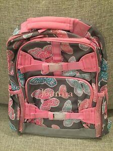 29c9da167303 NEW Pottery Barn Kids Mackenzie Gray Pink Butterfly Large Backpack ...