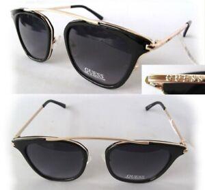 New-GUESS-GF0328-Black-Purple-Womens-Sunglasses-tiny-defect