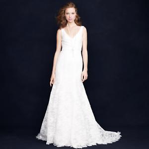 J Crew Wedding Dresses.Details About 2 200 Gorgeous J Crew Sara Ivory Lace Wedding Gown Nwt 6