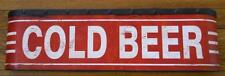 Large COLD BEER Metal Sign - Vintage Distressed Look -Bars Taverns Pubs Man Cave