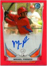 2014 BOWMAN SCOUT MINI RED REFRACTOR ON CARD AUTO AUTOGRAPH 5/5 MAIKEL FRANCO