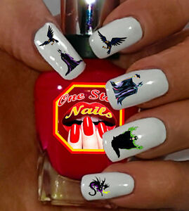 Details About Disney Maleficent Nail Art Stickers Transfers Decals Set Of 58 Dm 001 58