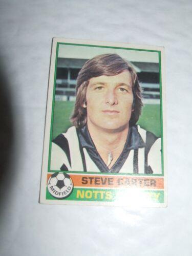 Steve Carter Notts County #67 Topps Fútbol Tarjeta 1977 rojo espalda