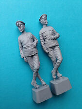 WWI Russian Armoured Car Crew Officer & Driver 1/35 Resin Yellow House Club ICM