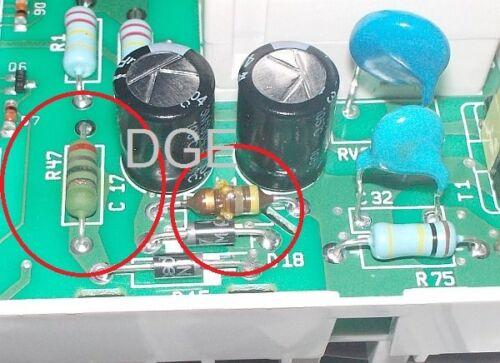 DIY Reparatur LNK304PN 22 Ohm 3W 470uH 1W IC Sockel AEG Lavamat Whirlpool Zanker