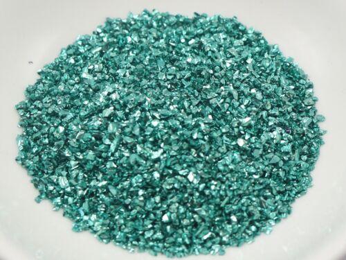 45 Gram Blue Glass Crushed Chips Irregular Shape Nail Art Tips Storage Box