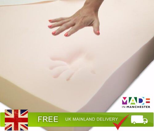 """4/"""" ThickKing Orthopaedic Memory Foam Mattress TopperWith Cover"""
