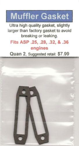 .28 ASP .25 /& .36 Exhaust//Muffler Gasket 2 Pack NIP .32