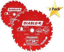 "Freud Diablo D0724A 7-1/4"" 24T Carbide Circular Framing Saw Blade 5/8 Arbor Wood"