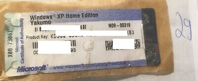 Windows XP Home Edition-Serial Key OEM Label Yakumo - 29 ...