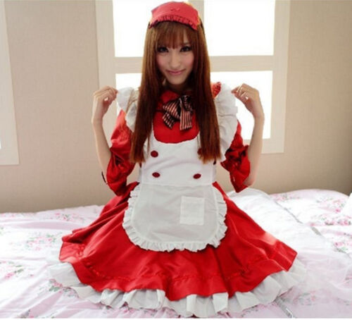 Anime Cosplay Maid Costume Lolita French Maid Babydoll Dress Uniform Women