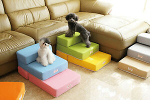 15PT01 Colorful Pet Furniture Dog Stairs Puppy Anti-slip Folded Stairs 2-step
