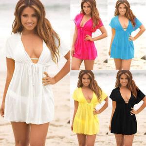 Summer-Women-Bathing-Suit-Bikini-Swimwear-Cover-Up-Beach-Dress-Sarong-Sexy-Wrap