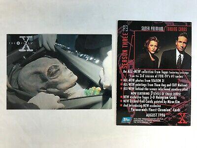 X-Files Magazine PROMO Card//Order Reservation Card Rare Topps Mint Season 1 Box