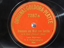 78rpm LAURA HILGERMANN sings Carmen (Bizet) - ORIGINAL GOLDORA PLATTE Top Rare !