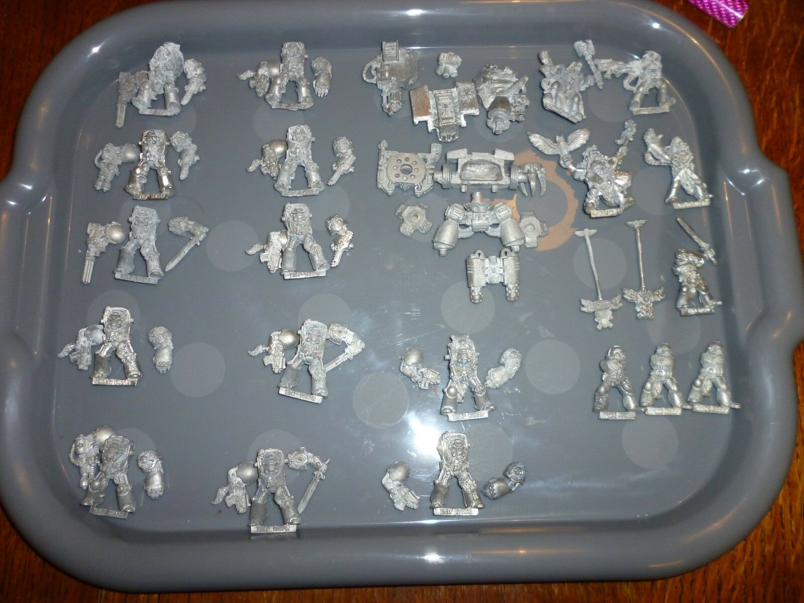 Warhammer 40k  space marine rogue trader .    SPACE WOLF army metal
