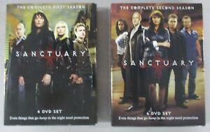 Sanctuary-Season-1-amp-2-4-Disc-DVD-Boxset-Lot-2009-2010-SyFy-TV-Series