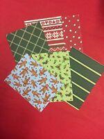 1/12th Dollshouse 6pcs Christmas Wrapping Paper Sheets
