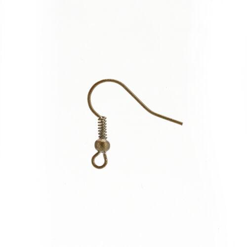 100pcs Wholesale Bulk Ear wires Earrings Ear Wires Fish Hooks 18 mm PLCA