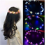 Glowing-Crown-Flower-Headband-Girls-Party-LED-Light-Up-Wreath-Garland-Hairband miniatura 3