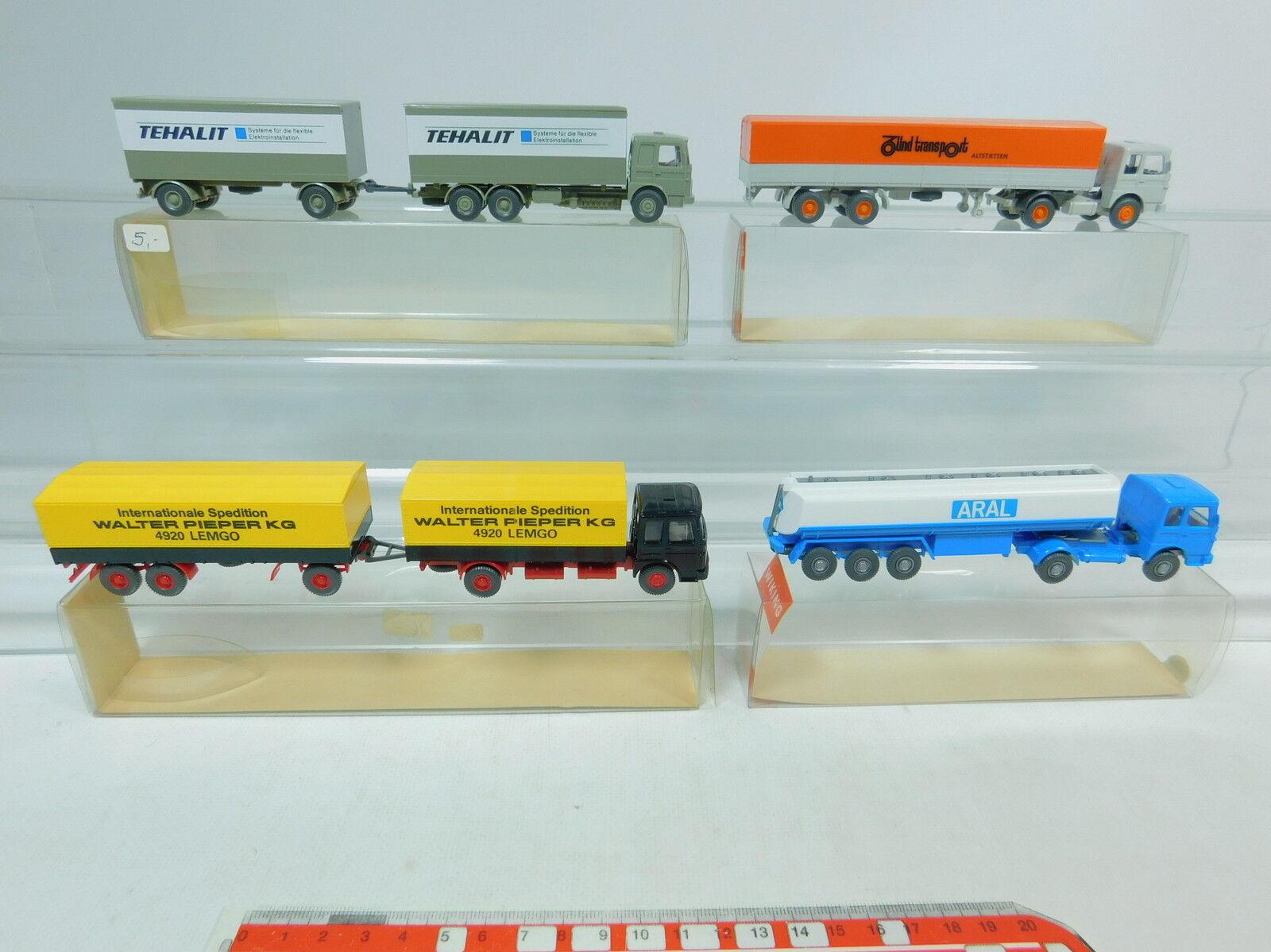 AV161-0,5  4x Wiking H0 LKW MAN  517 Zünd+801 Aral+471 Tehalit+421, s.g.+OVP  | Überlegene Qualität