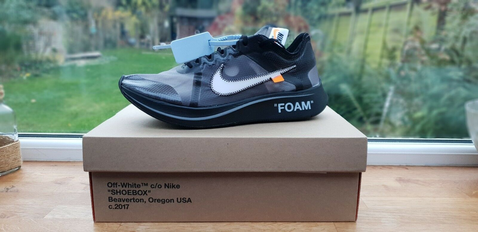 0339713ac7c68 The Ten  Nike X Off-White Off-White Off-White Zoom Fly (Black) - Taille 9  UK 10 US- f1bd25