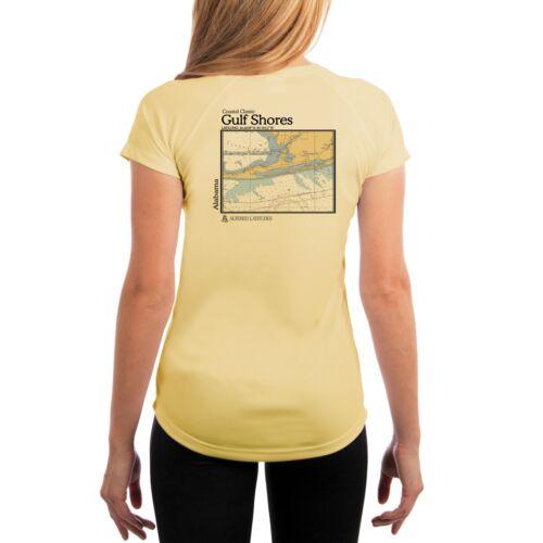UV//Sun Protection Short Sleeve T-Shirt Gulf Shores Chart Women/'s UPF 50