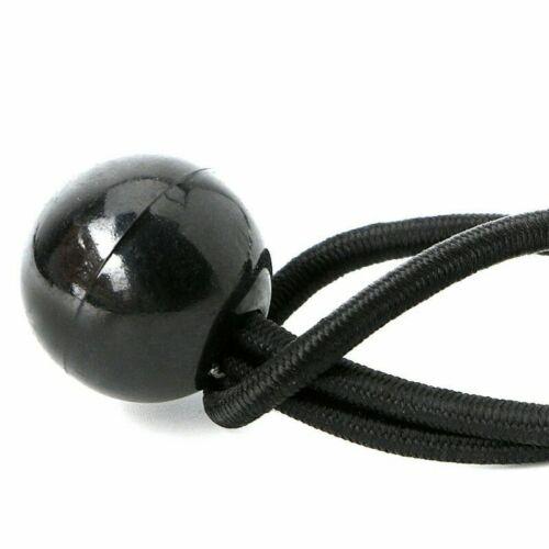 10pcs Heavy Duty Elastic Bungees Black Ball Tarp-Tent Shock Cord Loop Tie Down