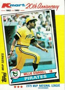 Willie-Stargell-autographed-signed-Pittsburgh-Pirates-1982-Topps-Kmart-card-set