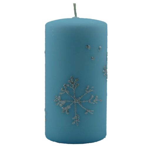 Design-stumpenkerzen copo de nieve a mano ø7 14cm snow navidad dekokerzen