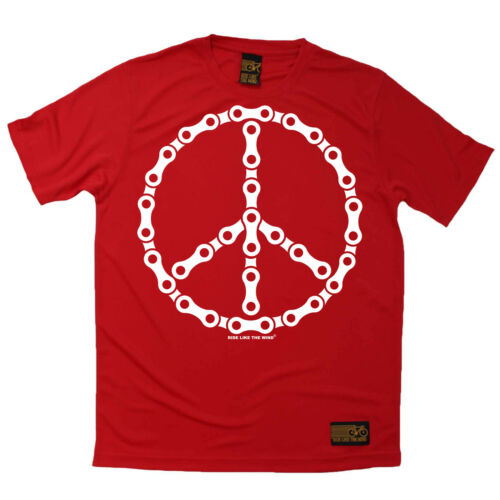 Cycling Bike Chain Peace Symbol Breathable top T SHIRT DRY FIT T-SHIRT
