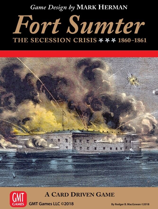 Fort Sumter  The Secession Crisis, Card Driven Game, New by GMT, English Edition