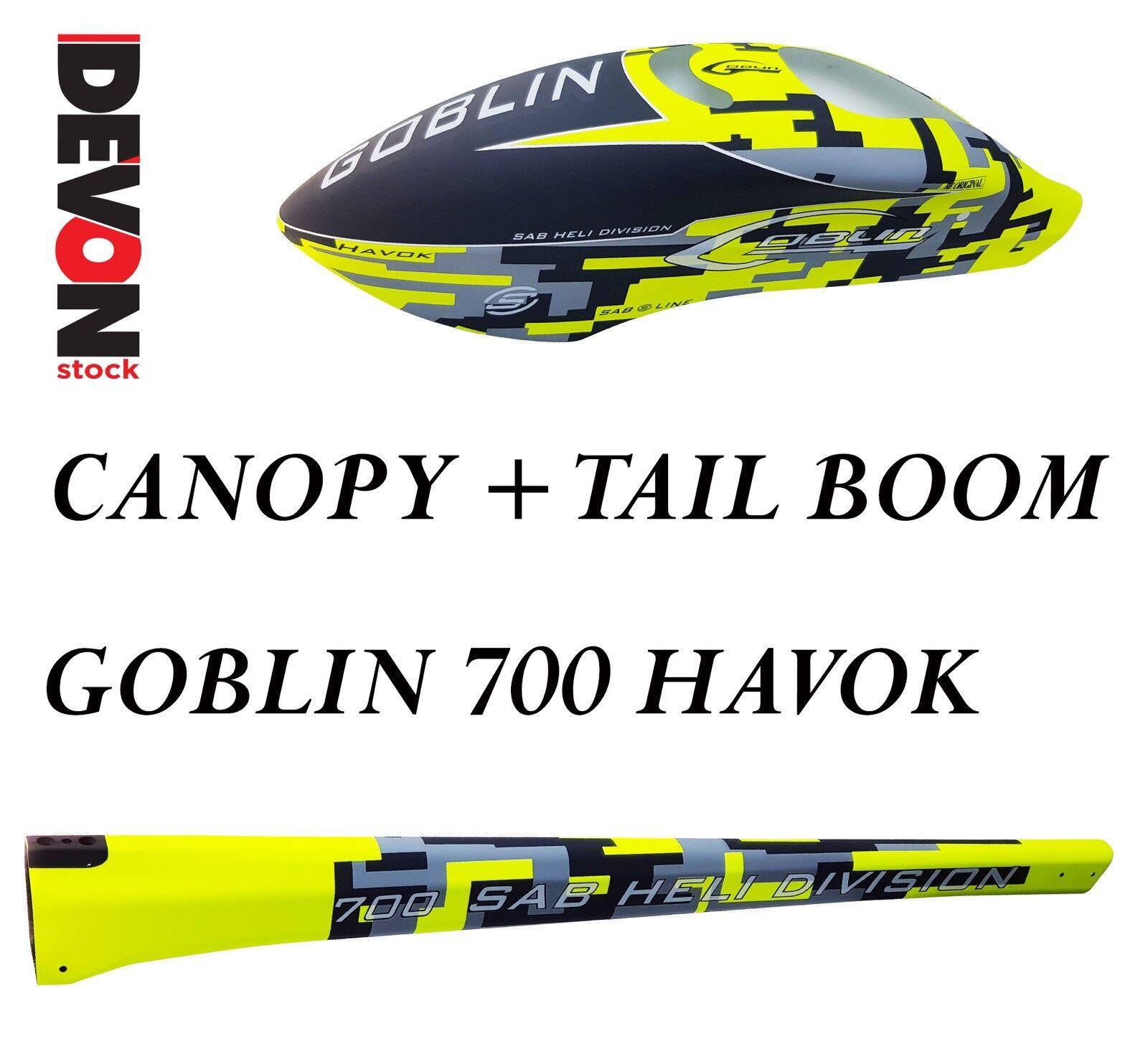 Canopy tail boom havok sab goblin 700 havok elicottero elettrico rc radiocomando