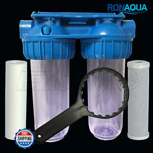 Image Is Loading Dual Whole House Water Filter Purifier With Carbon