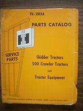 Ih Farmall Mccormick International 500 Crawler Parts Manual