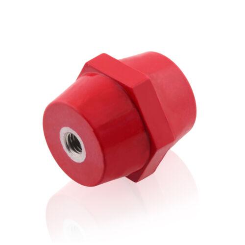Isolatoren M8 Rot 50x46mm Polyesterharz Stützisolator Selbstverlöschend 1 Stück
