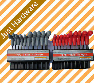 20 PC PCS T HANDLE HEX KEY SET METRIC AND SAE ALLEN WRENCH stock back