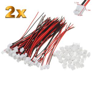 2-Set-4-Stueck-2Pin-2-0-PH-2-0mm-Mini-Micro-JST-Stecker-12cm-Kabel-Buchse