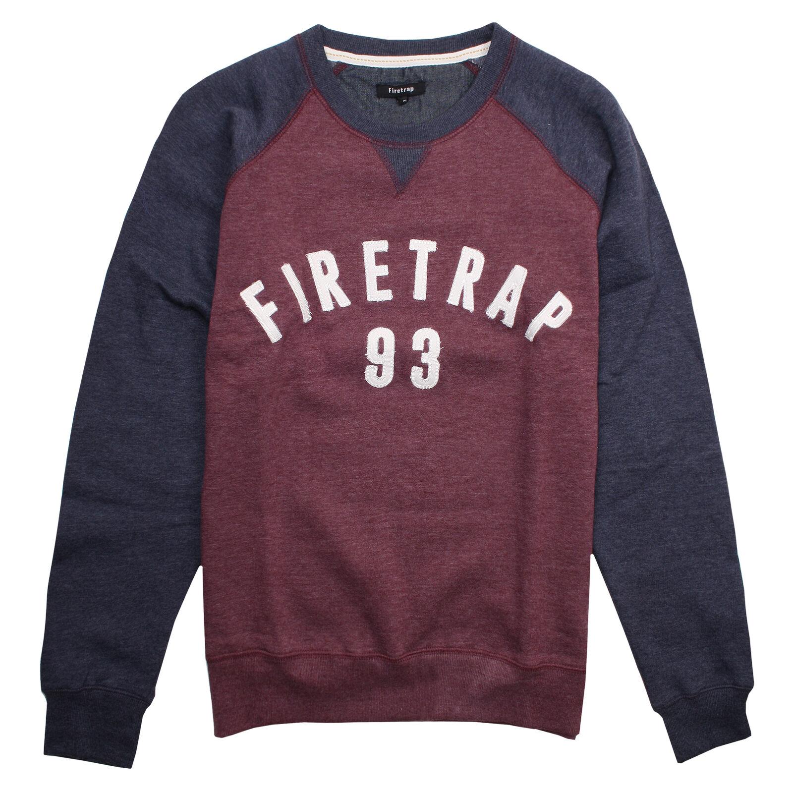 Firetrap Burgundy Rumsey Sweatshirt