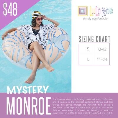 NEW LLR LuLaRoe Shirley Kimono  swimwear beach wear seetrow  Summer cardigan *