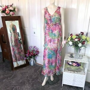 Together-Pink-floral-maxi-dress-Size-38-Womens